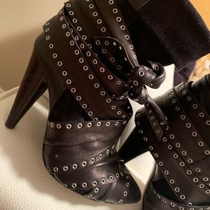 Isabel Marant leather and suede ankle boots